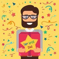 buona festa del papà vettore