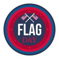 giorno della bandiera americana vettore