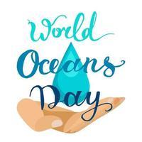 giornata mondiale dell'oceano vettore