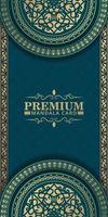 carta decorativa mandala di lusso in colore oro vettore