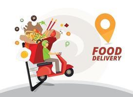 progettazione del servizio di consegna di cibo vettore