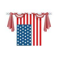 bandiera degli Stati Uniti d'America appesa vettore