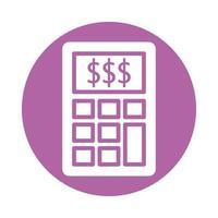 calcolatrice matematica dispositivo isolato icona vettore