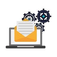 icona della tecnologia di posta elettronica vettore