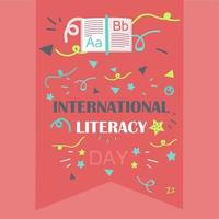 giornata internazionale dell'alfabetizzazione vettore