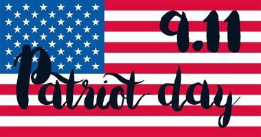 banner del giorno del patriota vettore