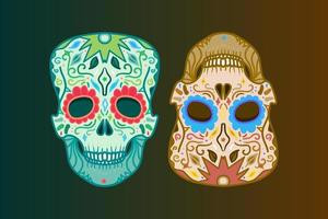 teschio messicano dettagliato vettore
