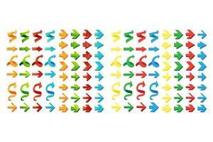 set di frecce poligonali triangolo isolato vettore