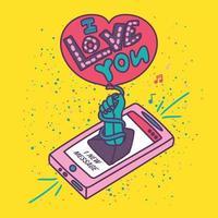 romantico creativo scrive sull'amore vettore