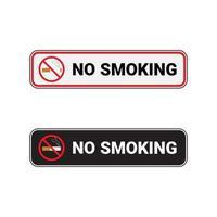 divieto di fumo rettangolare segno vettore