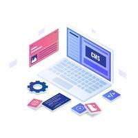 concetto di illustrazione del sistema di gestione dei contenuti vettore
