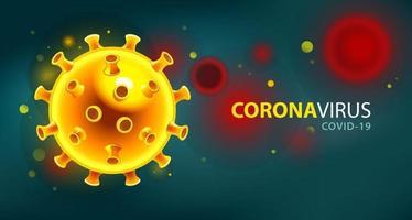 sfondo futuristico di coronavirus vettore