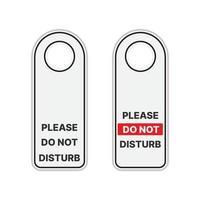 non disturbare il cartello appeso alla porta vettore