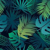 foglie tropicali senza cuciture vettore