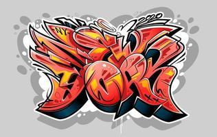 scritte in stile selvaggio graffiti di new york vettore