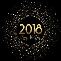 Felice anno nuovo sfondo coriandoli