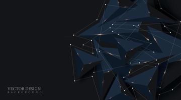 design a forma di triangolo 3d realistico. spazio futuristico. illustrazione di sfondo vettoriale