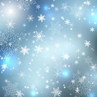 Fiocchi di neve invernali vettore