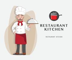 chef illustrazione vettoriale design