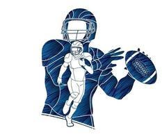 giocatore di football americano vettore