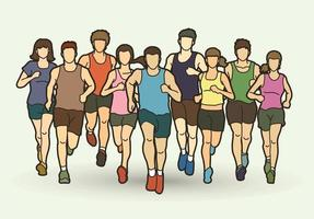 maratoneta uomini e donne