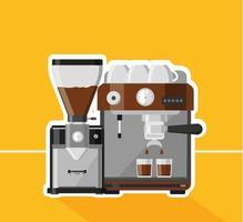 design macchina per caffè espresso vettore