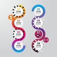 virus corona covid 19 infografica vettoriale