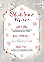 Sfondo di disegno del menu di Natale