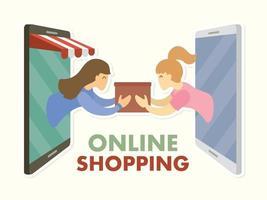 concetto di shopping online vettore