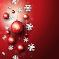 Sfondo di Natale con palle di Natale