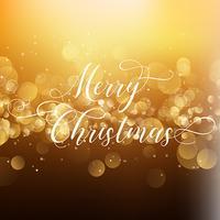 Sfondo di Natale con tipo decorativo vettore