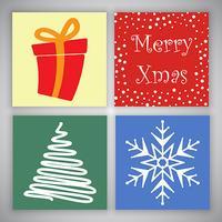 Disegni di cartoline di Natale vettore