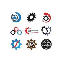 modello di logo dell'ingranaggio vettore