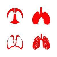 assistenza sanitaria polmonare e modello di progettazione logo medico vettore