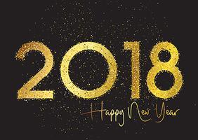 Sfondo di felice anno nuovo glitter vettore