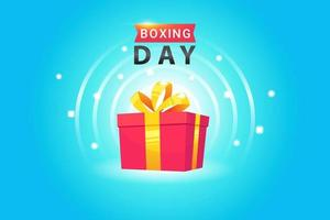 design di poster di boxe day vettore