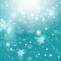 Fiocchi di neve di Natale e stelle