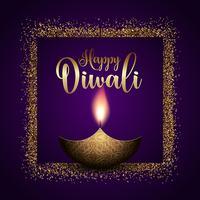 Sfondo di Diwali luccicante vettore