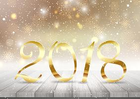 Golden Happy New Year background vettore