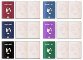 illustrazione realistica di progettazione di vettore del passaporto isolato su fondo bianco