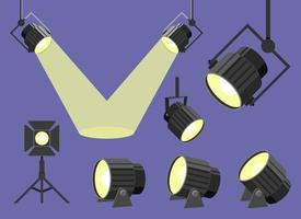 Spotlight design illustrazione vettoriale impostato isolato su sfondo