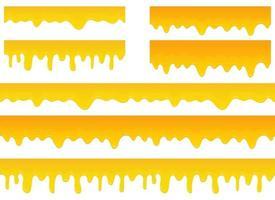 miele gocciolante disegno vettoriale illustrazione set isolato su sfondo bianco