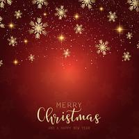 Sfondo decorativo fiocco di neve di Natale vettore