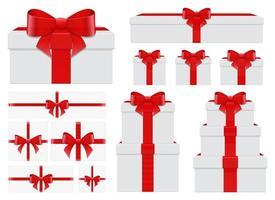 presente box set disegno vettoriale illustrazione set isolato su sfondo bianco