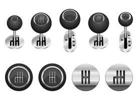 set di illustrazione vettoriale di spostamento auto isolato su sfondo bianco