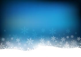 Sfondo di fiocco di neve di Natale vettore