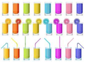 bicchiere di succo di frutta fresca illustrazione vettoriale design isolato su sfondo bianco