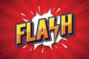 flash, poster di discorso. disegno di arte del testo. progettazione di marketing online. illustrazione vettoriale