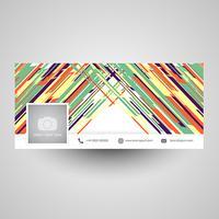 Abstract design di copertina di social media vettore
