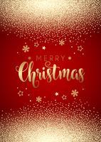Sfondo di Natale con coriandoli d'oro vettore